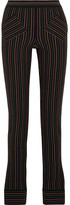 J.W.Anderson Striped Cotton-crepe Skinny Pants - Black