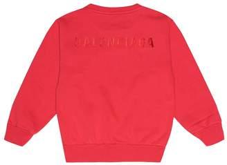 Balenciaga Kids Logo cotton-blend sweatshirt