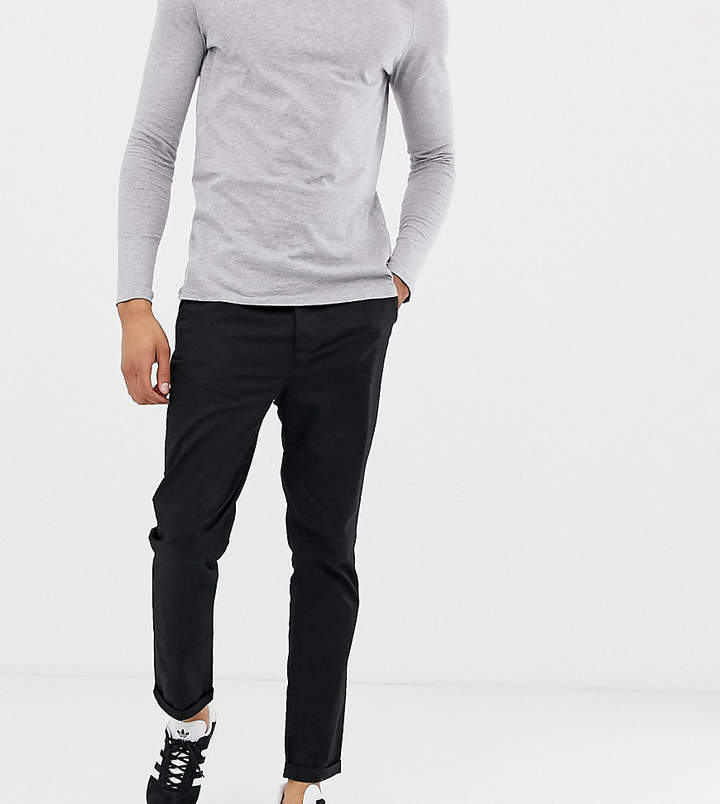Asos Design TALL Tapered Chinos In Black