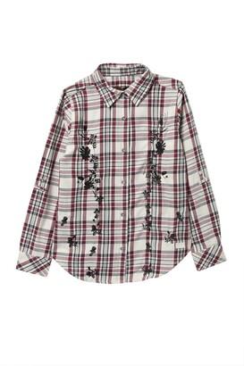 7 For All Mankind Plaid Long Sleeve Shirt (Big Girls)