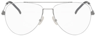 Fendi Gunmetal and Silver Aviator Glasses