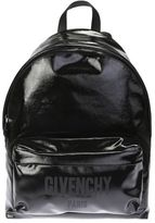 Givenchy Black Paint Backpack With Logo