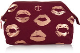 Charlotte Tilbury Printed Cotton-canvas Cosmetics Case - Burgundy