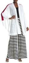 Norma Kamali Stripe Sleeve Kimono