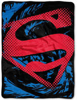 Warner Brothers Superman Super Rip Shield Plush Micro-Raschel Throw Bedding
