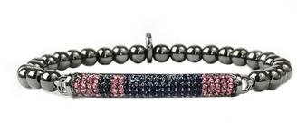 Marlyn Schiff Pave Bar Beaded Stretch Bracelet