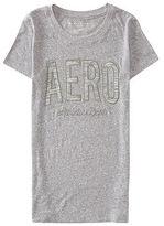 Aeropostale Womens Space-Dye Aero Graphic T Shirt