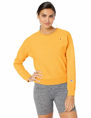 Champion Life Women's Garment Dyed-Reverse Weave Crew-Graphic