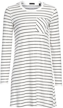 ATM Anthony Thomas Melillo Sparkle Stripe T-Shirt Dress