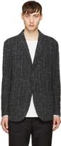 Issey Miyake Grey Shrunk Block Blazer