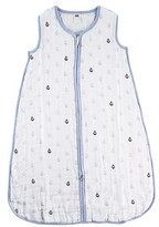 Hudson Baby Muslin Sleeping Bag - Blue Anchor