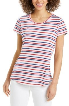 Style&Co. Style & Co Striped Tee, Created for Macy's
