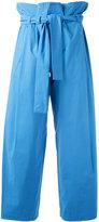Erika Cavallini - drawstring high-waisted pants - women - Cotton/Spandex/Elastane - 38