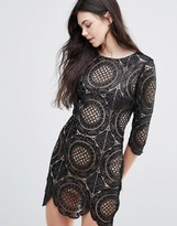 Goldie London Calling Embroidered Lace Mini Dress