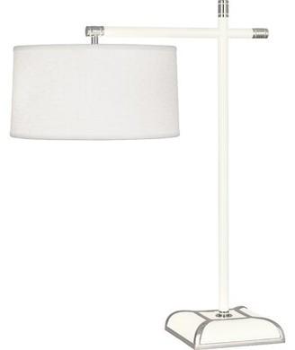 """Robert Abbey Ranger 25"""" Desk Lamp Finish: Glossy White"""
