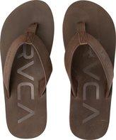 RVCA Federal Sandals Dark Brown 10