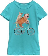 Fifth Sun Tahi Blue Puppy Cycling Tee - Girls