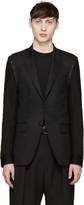 Givenchy Black Denim Sleeve Blazer