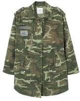 MANGO Patched camo jacket