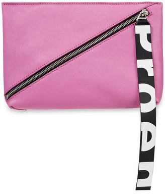 Proenza Schouler Zip Textured-leather Pouch