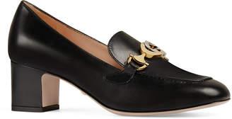 Gucci Zumi Leather Horsebit Loafers