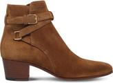 Saint Laurent Blake suede jodhpur ankle boots