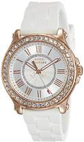 Juicy Couture Pedigree Women's Quartz Watch with Silver Dial Analogue Display and White Plastic Strap 1901052
