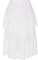 Wes Gordon Ruffle Silk Chiffon Skirt