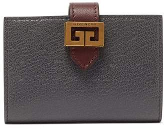 Givenchy Gv3 Bi-colour Leather Cardholder - Womens - Grey Multi