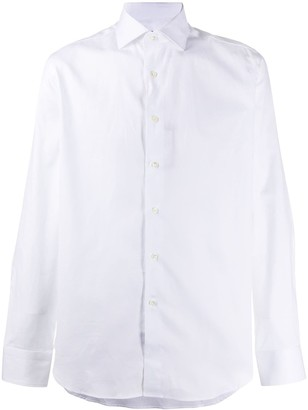 Canali Pointed Collar Cotton Shirt