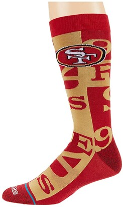 Stance NFL Branded San Francisco 49ers Crew (Red) Crew Cut Socks Shoes