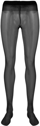 Saint Laurent Embellished Monogram Tights