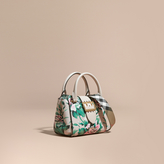 Burberry The Small Buckle Tote in Peony Rose Print Leather