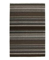 Chilewich Mixed Stripe Shag Rug - Oak - 61x91cm