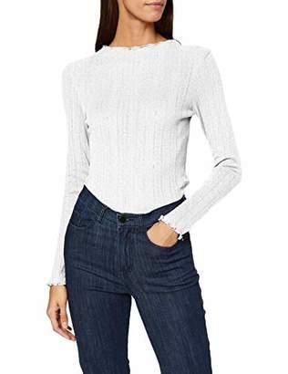 Tom Tailor Women's Pointelle Longsleeve T-Shirt