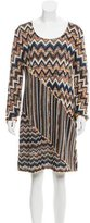 M Missoni Knit Chevron Patterned Dress