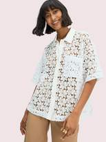 Kate Spade leaf lace blouse