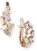 Suzanne Kalan Fireworks Mini Huggie Earrings in 18k Rose Gold