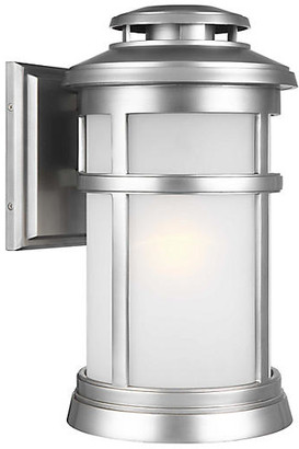 Feiss Newport Large Outdoor Sconce - Brushed Steel