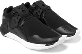 Y-3 - Qr Run Mesh And Leather Sneakers