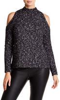 Rebecca Taylor Cold Shoulder Mock Neck Pullover Sweater