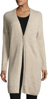 Lafayette 148 New York Cashmere-Silk Sparkle Duster Sweater, Sand
