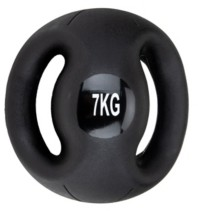 Mind Reader Medicine Ball with Handles, Strength Training Ball, Home Fitness Core Workout Ball