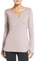 Zella Women's 'Rejuvenate' Keyhole Long Sleeve Tee