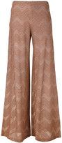 M Missoni jersey trousers - women - Cotton/Polyamide/Polyester/Metallic Fibre - 42