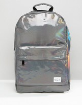 Spiral Backpack In Silver Rave