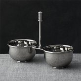 Crate & Barrel Easton 2-Part Stainless Steel Server