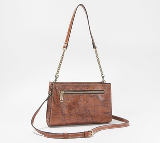 Patricia Nash Leather Turati Top Zip Crossbody with Shoulder Strap