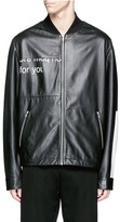 McQ by Alexander McQueen 'Haskins' slogan print lambskin leather jacket