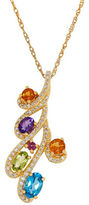 Lord & Taylor Diamonds, Citrine, Amethyst, Garnet, Peridot and Swiss Blue Topaz Pendant Necklace